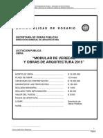Pliego de Licitación Arq 2015