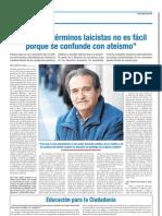 Entrevista F Delgado en Escuela