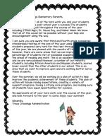 disagg data parent letters