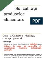 Controlul Calitatii Produselor Alimentare - Curs 1
