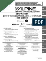 Owners Manual Alpine CDE-W233R En