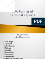 MELJUN CORTES RESEARCH Lectures APA Format Terminal Reports