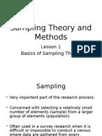 MELJUN CORTES Research Seminar 1 Sampling Theory and Methods
