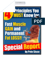 4 Principles For Fast Muscle Gain & Permanent Fat Loss  ( By Pete Sisco ).pdf