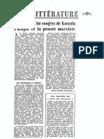Au Congres de Korcula l'Utopie Et La Pense - Jean-Michel Palmier