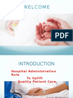 Hospital Administration Role in Quality Patientcare
