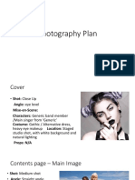 Photography Plan