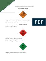 Classification of Hazardous Chemicals