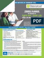 VIJAY (JR) Course Planner 2015