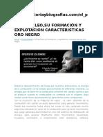 El Petroleo,Su Formación y Explotacion Caracteristicas Oro Negro