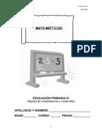 Competencias Matematicas EDUCACIÓN PRIMARIA 6º