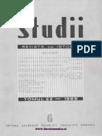 STUDII Revista de Istorie