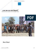 """Like We Are Not Nepali"" _ Human Rights Watch"