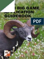 2016 Utah Big Game Application Guidebook