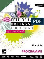 Fête de la Bretagne 2016 - Le programme