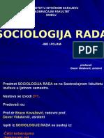Sociologija Rada (Ime i Pojam)