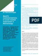 Recomendacioens Para Evitar Mala Práctica en Neonaotología