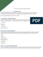 Environment Factors