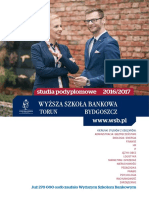 Informator 2016 - Studia Podyplomowe - Wyższa Szkoła Bankowa w Toruniu