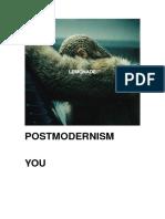 A2 Media Studies - Postmodern Media Revision Booklet