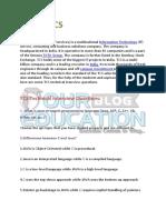 TCS Technical Questions PDF