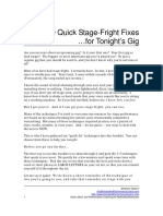 10 Quick Stage Fright Fixes for Tonights Gig