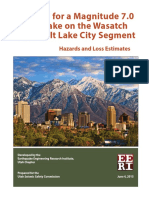 Scenario for a Magnitude 7.0 Earthquake on the Wasatch Fault–Salt Lake City Segment