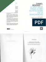 Daniel Bensaid Le Spectacle Stade Ultime Du Fetichisme de La Marchandise