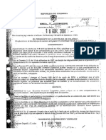 Decreto 642 Del 16 de Abril 2001