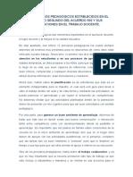 Los Principios Pedagógicos Establecidos en El Artículo Segundo Del Acuerdo 592 y Sus Implicaciones en El Trabajo Docente Ensayo