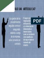 Artículos 146 y 147