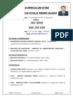 Curriculum Vitae de Pedro Atoccsa