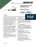 Caterpillar XQ1250G Containerized Gas Generator Set