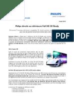 Philips dévoile ses téléviseurs Full HD 3D Ready