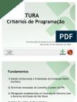 TV Cultura - Critérios de Programação
