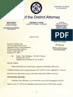 DA Response in Thibodeau Appeal Request