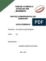 Nulidad y Simulación Del Acto Jurídico