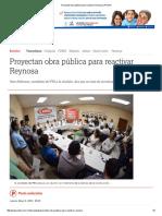 05-05-2016 Proyectan Obra Pública Para Reactivar Reynosa