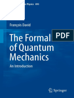 The formalism of Quantum Mechanics