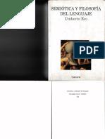 Semiótica y Filosofía Del Lenguaje- Umberto Eco