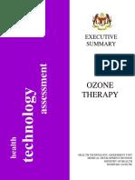 Executive Summary -Ozone Therapy