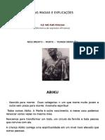 King Magias e Explicacoes Abiku
