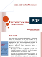Estadística Descriptiva - Conceptos Estadisticos