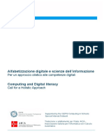 Computing and Digital Literacy (Versione italiana)