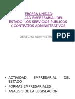 Actividad Empresarial Del Estado Los Servicios Públicos y Contratos Administrativos