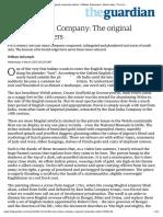 "The East India Company- The original corporate raiders | William Dalrymple | World news | The Guardian"""