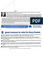 Gary Cowan -  Five Good Reasons