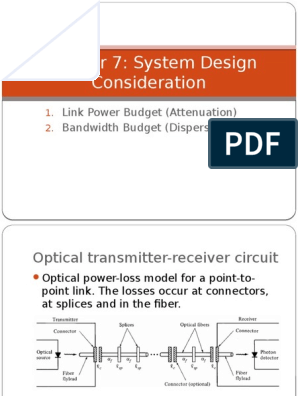 Chapter 7 System Design Consideration Dispersion Optics Optical Fiber Free 30 Day Trial Scribd