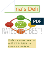 lab 4-1 deli proposal