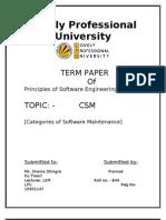Categories of Software Maintenance